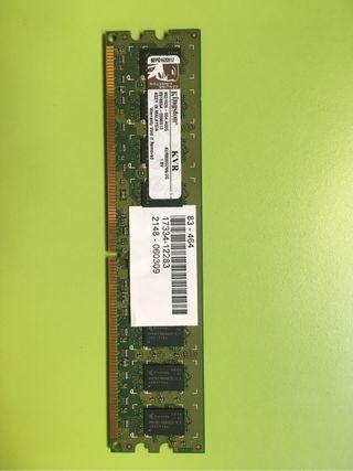 2 GB DDR2 KINGSTON KVR800D2N6
