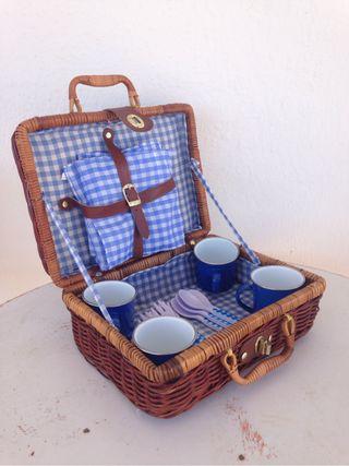 Cesta de picnic vintage