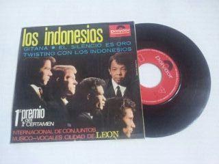 Disco vinilo Single Los indonesios gitana