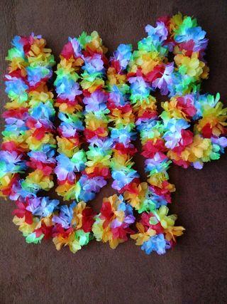 Lote cintas hawuainas para fiestas , tres tamaños