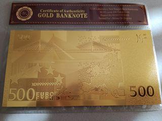 billete 500 € GOLD BANKNOTE
