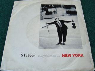 "STING.-ENGLISBMAN IN NEW YORK- SINGLE VINILO 7""."