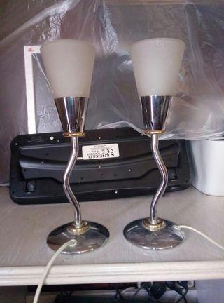 dos lámparas dormitorio vintage