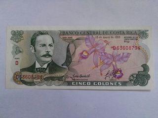 billete de costa rica