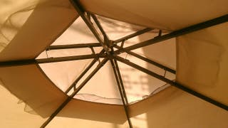 cambio por moto o vendo carpa para patio hexagonal