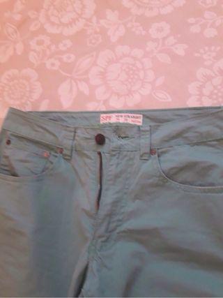 Pantalon verde agua