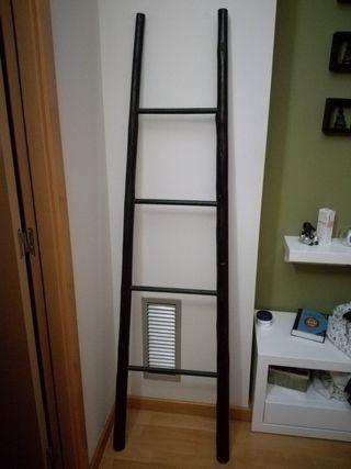 Escalera de bamb negra de segunda mano por 25 en - Escalera de bambu ...