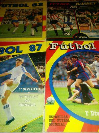 3 albumes años 80 futbol Panini segunda mano  España
