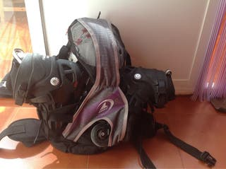 Patines linea, bolsa y protecc