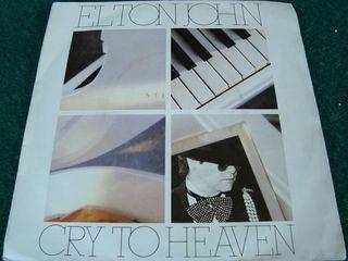 "ELTON JOHN.-CRY TO HEAVEN- SINGLE VINILO 7""."