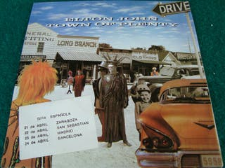 """ELTON JOHN.-TOWN OF PLENTY- SINGLE VINILO 7""""."""