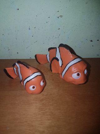 lote figuras pvc goma Nemo y Marlin Bullyland