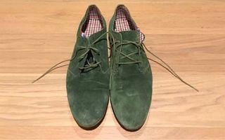 Botines bajos verdes de ante El Ganso, talla 43