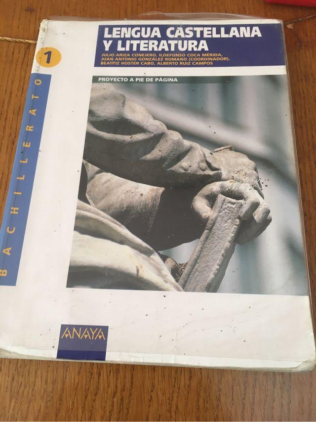 Libro Lengua Castellana 1 bach