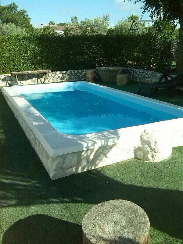 piscina fibra poli ster bonita oferta de segunda mano por