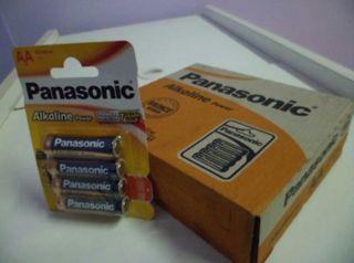 caja de pilas panasonic AA 12 paquetes