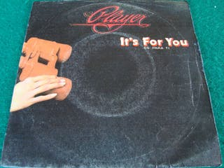 """PLAYER.-IT'S FOR YOU- SINGLE VINILO 7""""."""
