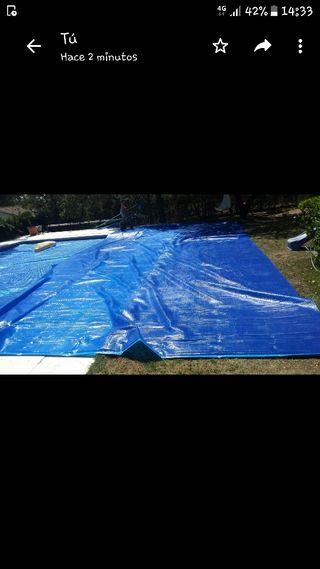 Manta para piscinas de segunda mano en wallapop for Piscina desmontable rectangular 3x2