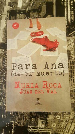 "libro ""para Ana (de tu muerto)"""