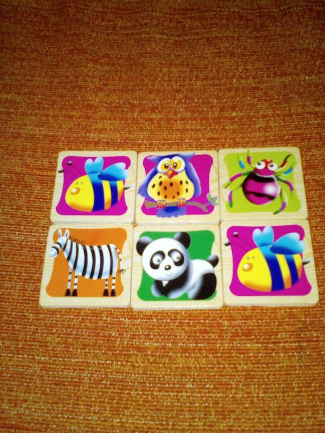 Juegos infantiles de madera.