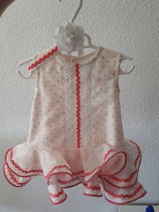Vestido gitana flamenca bebe 2-6 meses