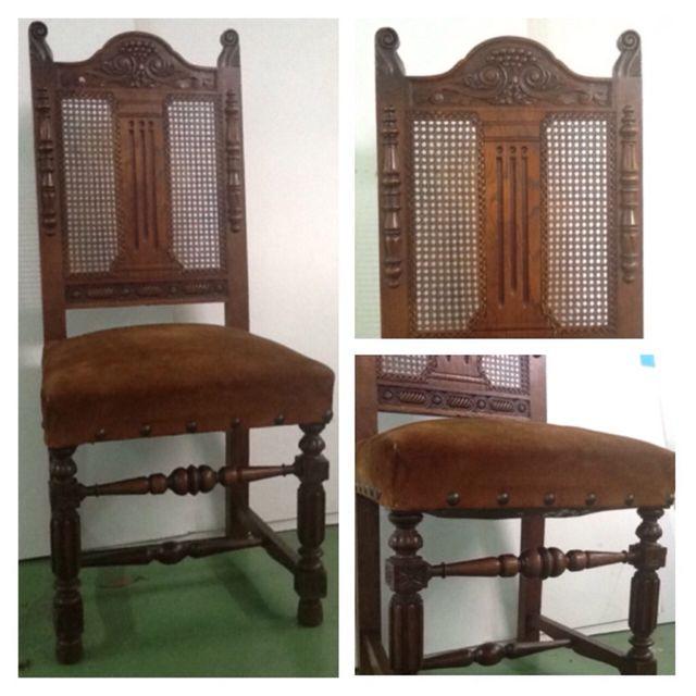 Lote 4 sillas antiguas