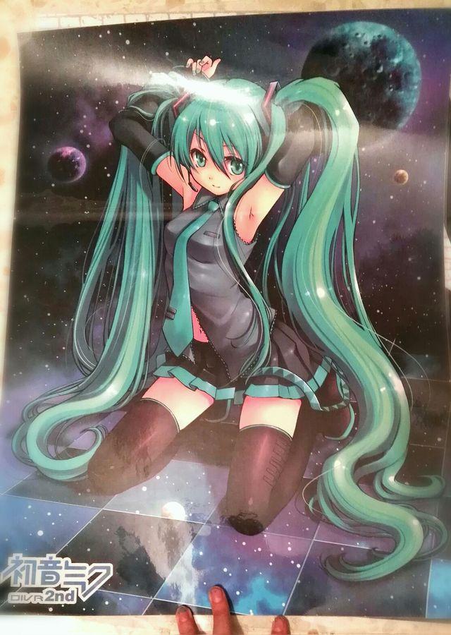 Poster Plastificado Miku