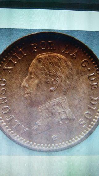 moneda 2 centimos España 1911 Alfonso XIII