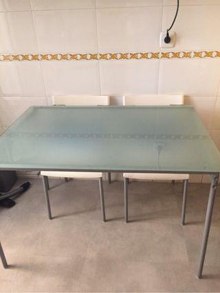 Mesas salon de segunda mano por 18 en m stoles wallapop for Wallapop mesas