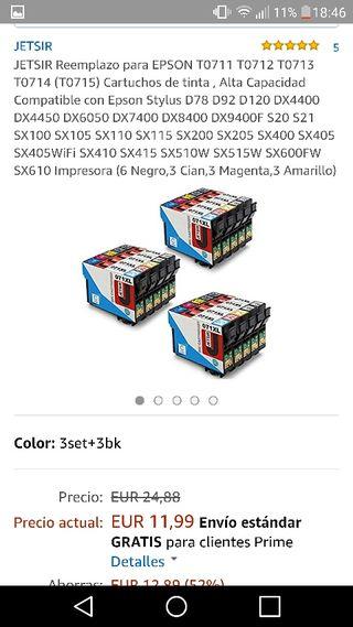tintas de impresora (dime tu modelo)