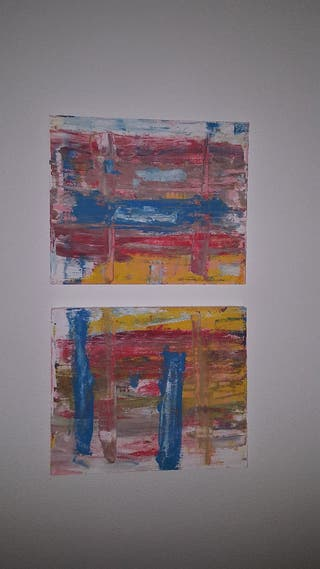 Pintura cuadro abstracto