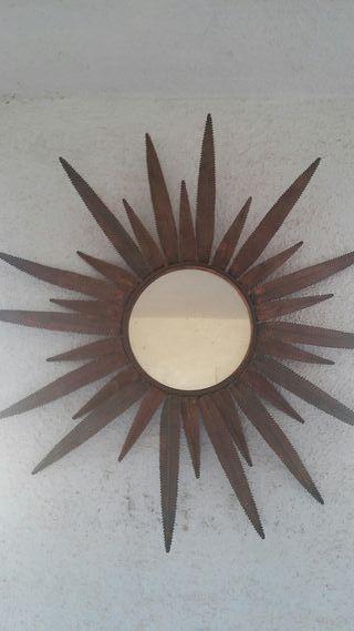 espejo vintage retro bronce cobre