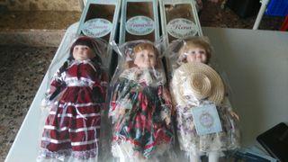 Muñecas de porcelana de Coleccion.