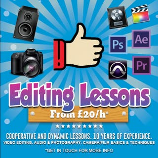 Editing lessons - Video, audio & photography