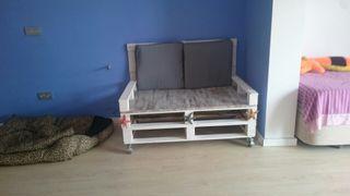 Sofa Palet blanco