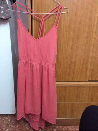 Vestido rosa coral talla M