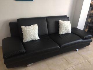 Sofa polipiel diseño negro