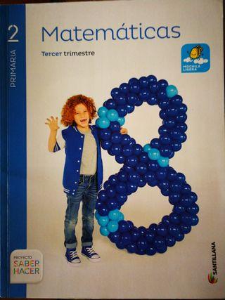 Libro Matemáticas 2 Primaria 3er Trimes Santillana