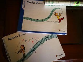 Libro y cuaderno música 2 Primaria Santillana