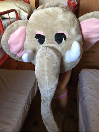 Cabeza elefante disfraz
