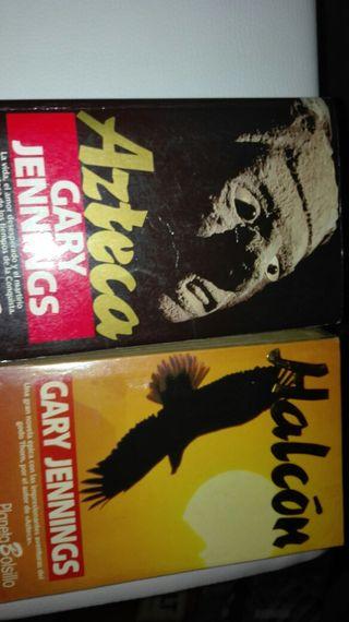 Libros Azteca y Halcón. de Gary Jennings
