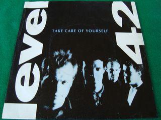 "LEVEL 42.-TAKE CARE OF YOURSELF- SINGLE VINILO 7""."