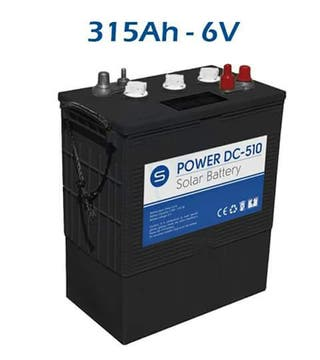 Batería solar de ciclo profundo DC 315AH 6V