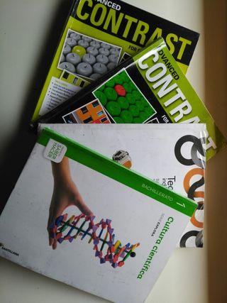Libros 1° Bachillerato y 2° Bachillerato.