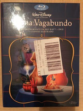La Dama y El Vagabundo Edición Diamante En Bluray+DVD+Cuento Ilustrado Disney