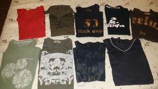 9 Camisetas y 1 pantalon media pierna CHICO
