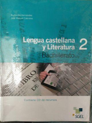 Libro Lengua Castellana 2 Bachillerato SGEL