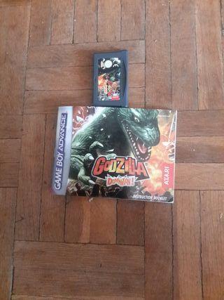 juego de Godzilla de Game boy advance