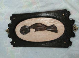 cuadro en madera tallada.imagen