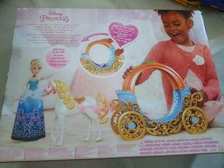 carroza princesa disney con caballo calabaza